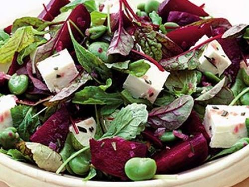 Roast Beetroot, Bean and Fetta Salad