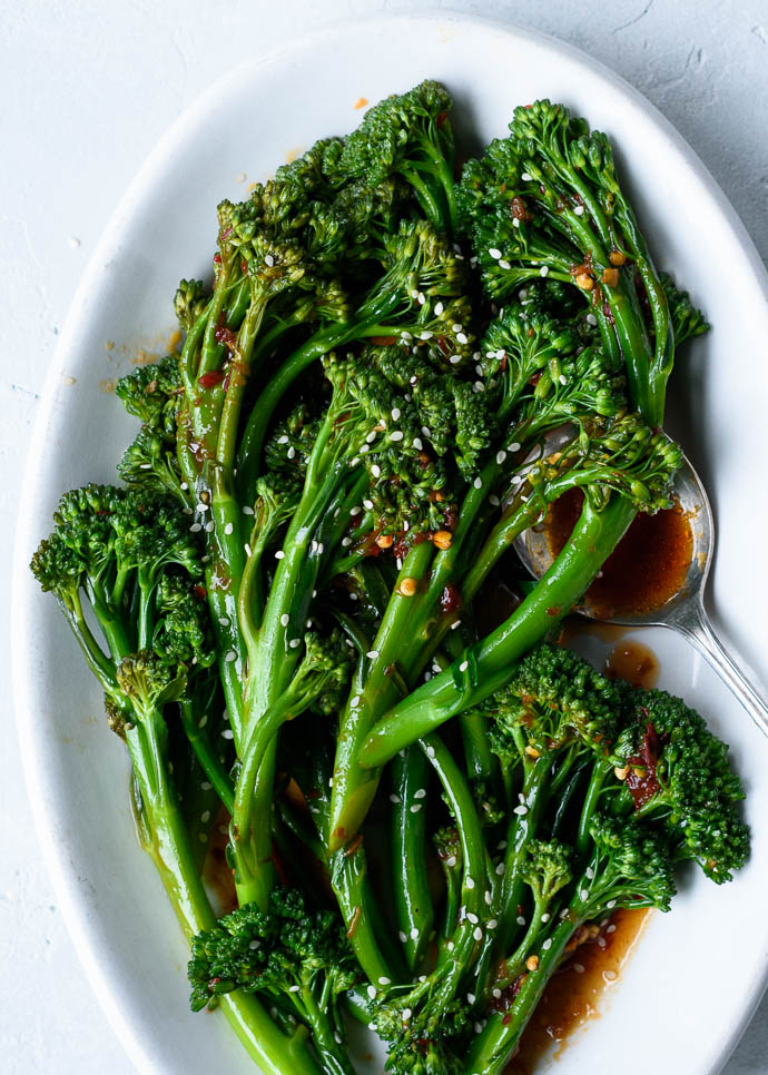 Spicy Sautéed Sesame Garlic Broccolini